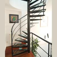 Wholesale Customized Spiral Stairs Railing Balustrade Spiral Staircase with Glass Steps from china suppliers