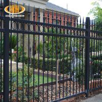 Wholesale victorian style antique black wrought iron fence metal ornaments horse fencing steel swimming pool fence from china suppliers