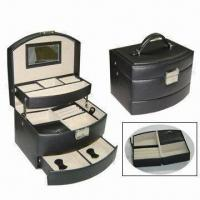 Wholesale Functional Jewelry Box with PU Leather Surface, Removable Case, Soft Velvet Lining, Ideal for Travel from china suppliers