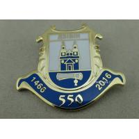 Buy cheap Gold Plated Brass Stamped Custom Lapel Pins Velvet Box Pin / Awards Pin Badge from Wholesalers