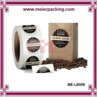 Wholesale Glossy roll coffee sticker, custom oval coffee label stickers ME-LB009 from china suppliers