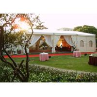 China Strong White Wedding Tent For Rent For Parties With Roof Linings / Curtains on sale