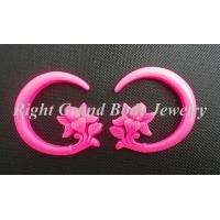 Buy cheap Solid Pink Resin Flower Ear Hanger Spiral Taper For Party / Anniversary from wholesalers