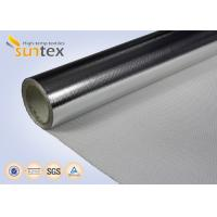 China 0.4mm Insulation Blanket Aluminum Foil Fiberglass Cloth 550C High Thermal Flange Cover on sale