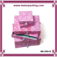 Wholesale Colorful different size drawer box with ribbon pull ME-DR018 from china suppliers