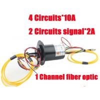 Wholesale 1 Channel fiber optic slip ring with 4 circuits 10A and 2 circuits 2A of optic-electrical from china suppliers