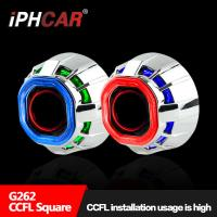 Wholesale IPHCAR Hot Sell 2.5 Double Angel Eye Car Headligh Lens DIY Retrofit Car Halo Rings Hid Lighting from china suppliers