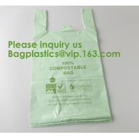 Wholesale Heavy Duty Compostable T-shirt Handle Tie Plastic Roll Garbage Bags Trash Bags, t shirt carry bags, bagease, bagplastics from china suppliers