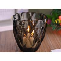 Wholesale Coloring Material Wedding Glass Candle Holder With Diamond Design , eco Friendly from china suppliers