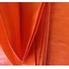 Anti UV Double orange color&100% new material 140grams polyethylene tarps/tarpaulin fabric for sale