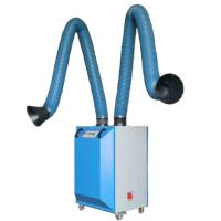 China Gas disposal welding extractor 160mm PVC coated glass fiber ducting on sale