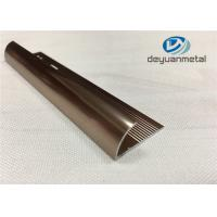 Quality 6063 T5 Aluminium Extrusion Profile Metal Transition Strips For Flooring With Polishing Bronze for sale