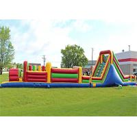Wholesale Plato PVC Tarpaulin Giant Inflatable Train Obstacle Course For Grassland from china suppliers