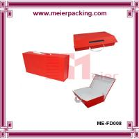 Wholesale Ribbon handle gift box, collapsible paper flat box, custom folding shoe box ME-FD008 from china suppliers