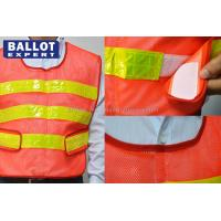 Wholesale Classic Style Reflective Work Vest Yellow Polyester Fluorescent Protective Clothes from china suppliers