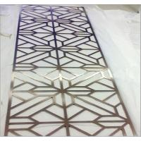 China rose gold decorative room dividers stainless steel laser cut sheet partition on sale