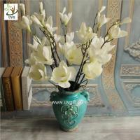 China UVG FMA58 Wedding reception ideas real touch PU magnolia flower pink fake flowers for table decoration on sale