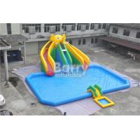 Buy cheap Mobile Large Commercial Inflatable Water Park With Elephant Slide Design Build from wholesalers