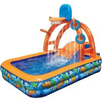 Wholesale Durable PVC Rectangular Inflatable Water Pool With Basketball ASTM963 from china suppliers