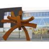 Modern Large Corten Steel Sculpture For Public Garden Decoration 300cm Height