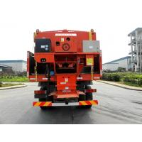 Quality Snow Sweeper Sewage Suction Truck Septic Pump Truck Red Color for sale