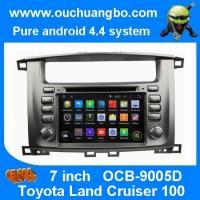 Wholesale Ouchuangbo Toyota Land Cruiser 100 pure android 4.4 OS autoradio stereo dvd navi build in from china suppliers