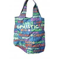 Buy cheap Custom reusable 200D printing folded shopping nylon storage bags from wholesalers