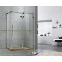 Green Bronze Square Frameless Hinged Shower Door With One Hinged Door Easy Installation for sale