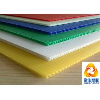 Light Weight But Compression Resistant Fluted / Corrugated Polypropylene Sheets