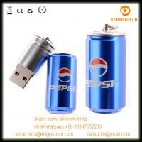 Wholesale Pop Can shape usb flash drive, metal mini beer pop can pen drive from china suppliers