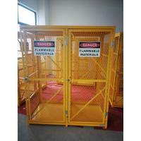 """Wholesale 71-3/4"""" X 60"""" X 30"""" Assembled Yellow Industrial Safety Cabinets Gas Cage Cylinder Storage from china suppliers"""