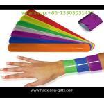 China Promotional custom ruler slap bracelet reflective PVC wristband/slap wristbands for sale