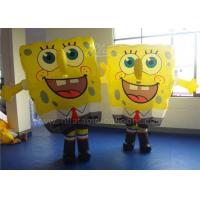 Wholesale Customized Inflatable Man Costume , Cartoon Inflatable Spongebob Costume from china suppliers