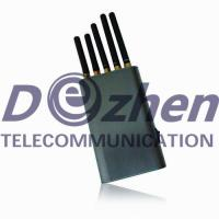 China Handheld Cell Phone Cellular Signal Jammer , Wifi Device Blocker 5V DC/8A on sale