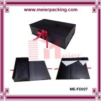 Wholesale Customized cardboard folding paper gift box with ribbon/Apparel paper gift box ME-FD027 from china suppliers