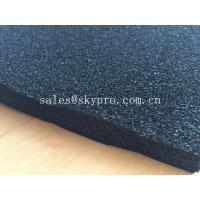 Quality EPDM foam rubber sheet black color , open cell rubber sheet for insulation for sale