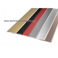 China Flat Tile Trim / Metal Decorative Transition Strips For Wall Tile Separation for sale