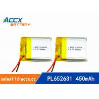 Wholesale 652631 pl652631 prismatic lithium-ion polymer rechargeable batteries 3.7v 450mah from china suppliers