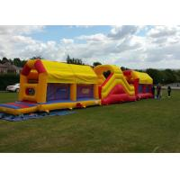 Wholesale Amazing 75ft Massive Bouncy Castles Obstacle Course In Challenge Games from china suppliers