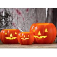 Wholesale Led Pumpkin Candle With Yellow Light , Plastic Outdoor Pumpkin Lights from china suppliers