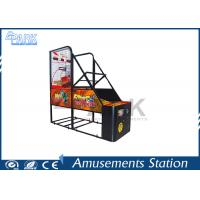 crazy hoop Coin Pusher Arcade Basketball Game Machine Normal Size 100W for sale