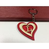 Wholesale love wood gift heart shape keychain letter L Key Chain tag from china suppliers