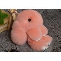 Quality Rabbit Fur Round Fuzzy Ball Keyring , Cute Fluffy Keychain For Bag Pendant for sale