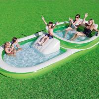 Wholesale Two - In - One Wide Family Inflatable Swimming Pool With Cup Holders Easy Set Up from china suppliers