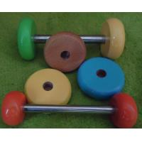 Wholesale Wood wheel colored wood toy wheels toy parts from china suppliers