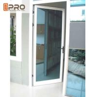 Swing Open Style Aluminium Hinged Doors With Ford Blue Reflective Glass for sale