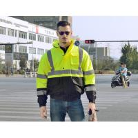 Buy cheap 100 % polyester 300D oxford hi vis safety jacket  winter waterproof reflective safety jacket for worker from wholesalers