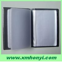 China pvc business name card holder with 24 page on sale