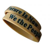 China embossed silicone wristbands for sale