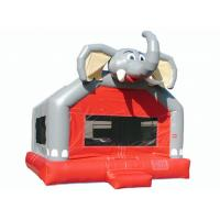 Quality Amusement Park Cute Elephant Huge Bounce House , Small Indoor Bouncy Castle Hire for sale